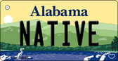 Native Alabama Background Key Chain Metal Novelty