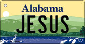 Jesus Alabama Background Key Chain Metal Novelty