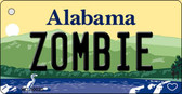 Zombie Alabama Background Key Chain Metal Novelty