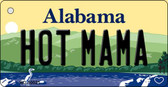 Hot Mama Alabama Background Key Chain Metal Novelty