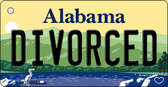 Divorced Alabama Background Key Chain Metal Novelty KC-10024