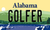 Golfer Alabama State Background Magnet Novelty