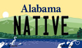 Native Alabama State Background Magnet Novelty M-10010
