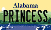 Princess Alabama State Background Magnet Novelty