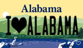 I Love Alabama Alabama State Background Magnet Novelty