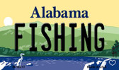 Fishing Alabama State Background Magnet Novelty