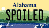 Spoiled Alabama State Background Magnet Novelty