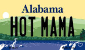 Hot Mama Alabama State Background Magnet Novelty M-10021