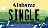 Single Alabama State Background Magnet Novelty M-10023