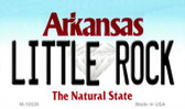 Little Rock Arkansas State Background Magnet Novelty
