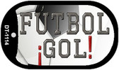 "Futbol Gol Dog Tag Kit 2"" Metal Novelty"