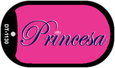 "Princesa Dog Tag Kit 2"" Metal Novelty Necklace"