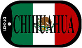 "Chihuahua Mexico Flag Dog Tag Kit 2"" Metal Novelty Necklace"