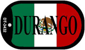 "Durango Mexico Flag Dog Tag Kit 2"" Metal Novelty Necklace"
