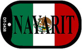 "Nayarit Mexico Flag Dog Tag Kit 2"" Metal Novelty Necklace"