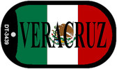 "Veracruz Mexico Flag Dog Tag Kit 2"" Metal Novelty Necklace"