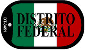 "Distrito Federal Mexico Flag Dog Tag Kit 2"" Metal Novelty Necklace"