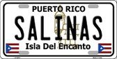 Salinas Puerto Rico Metal Novelty License Plate LP-2872
