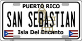 San Sebastian Puerto Rico Metal Novelty License Plate LP-2876