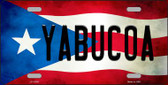 Yabucoa Puerto Rico Flag Background License Plate Metal Novelty