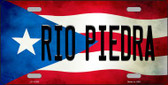 Rio Piedra Puerto Rico Flag Background License Plate Metal Novelty