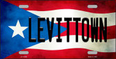 Levittown Puerto Rico Flag Background License Plate Metal Novelty