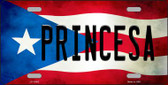 Princesa Puerto Rico Flag Background License Plate Metal Novelty