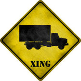 Supply Truck Xing Novelty Metal Crossing Sign