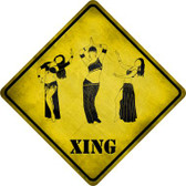 Belly Dancers Xing Novelty Metal Crossing Sign