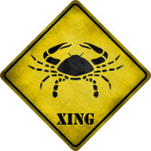 Cancer Zodiac Animal Xing Novelty Metal Crossing Sign