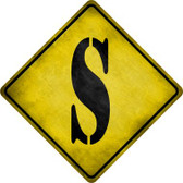 Letter S Xing Novelty Metal Crossing Sign CX-284