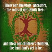 Bless Our Ancestors Novelty Metal Square Sign