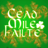Cead Mile Failte Novelty Metal Square Sign