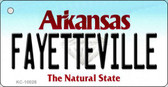 Fayetteville Arkansas Background Key Chain Metal Novelty