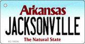 Jacksonville Arkansas Background Key Chain Metal Novelty
