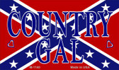 Confederate Country Gal Novelty Metal Magnet