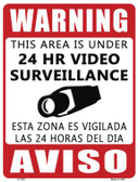 Warning This Area Is Under Video Surveillance Parking Sign Novelty