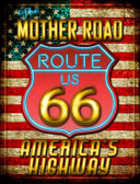 Mother Road Route 66 Parking Sign Novelty P-1704