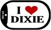 I Love Dixie Dog Tag Kit Novelty Necklace
