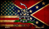 American Confederate Don't Tread Novelty Magnet