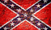 Rebel Flag Brick Wall Novelty Magnet
