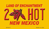 2 Hot Yellow New Mexico Novelty Wholesale Magnet