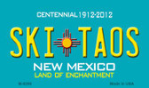 Ski Taos Teal New Mexico Novelty Magnet