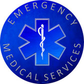 Emergency Medical Services Novelty Circular Sign