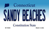 Sandy Beaches Connecticut State License Plate Magnet M-10929