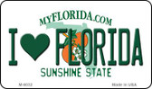 I Love Florida State License Plate Magnet M-6032
