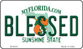 Blessed Florida State License Plate Magnet M-6035