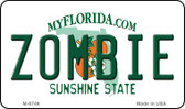 Zombie Florida State License Plate Magnet M-6746