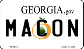 Macon Georgia State License Plate Novelty Magnet M-6145