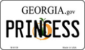 Princess Georgia State License Plate Novelty Magnet M-6159